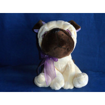 Cachorrinho Pelúcia Usado Com Gravatinha Sentado 15cm Altura
