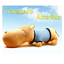 Cachorro Pelúcia Travesseiro Almofada Salsicha 50cm