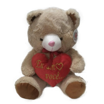 Urso De Pelúcia Coração Ursinho Eu Amo Você Namorados 40cm