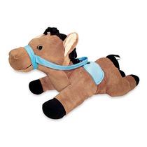 Cavalo Pelucia Lipy Caramelo 80cm Lavavel Antialergico Novo