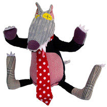 Lobo De Pelucia Original Déglingos Bigbos Brinquedo Bebe