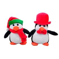 Pinguim Pq Com Gorro E Cachecol Bicho Pelucia Decoraçao