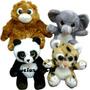 Amiguinhos Da Selva- Elefante, Orangotango, Leopardo E Panda