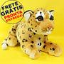 Filhote De Leopardo 48cm - Bicho De Pelúcia Anti Alérgica