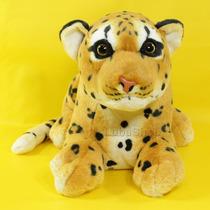 Leopardo De Pelúcia Filhote 48 Cm