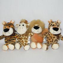 4 Bichinhos De Pelúcia Safari - 20cm