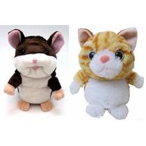 Bichos De Pelúcia Que Repetem O Que Você Fala! Rato E Gato