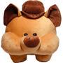 Porquinho Pierry Marrom Bicho Pelucia Presente Brinquedo