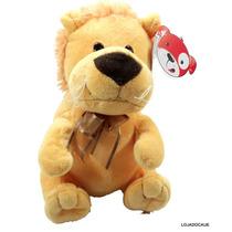 Pelúcia Cofre Animais Leão Presentes Brinquedos