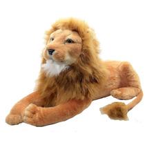 Leão Grande Extra Safari Zoológico Bicho Pelucia