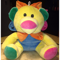 Boneco Leão De Pelucia Colorido Para Bebê Tam. 29cm