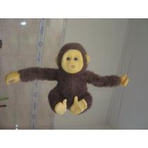 Pelúcia Macaquinho 24 Cm Fica Pendurado Brinquedo Antigo