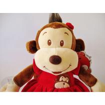 Macaco Pequeno De Pelúcia Bichinho - Menina/ Fêmea/ Vestido
