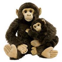 Chimpanzé Mãe E Filho 80cm