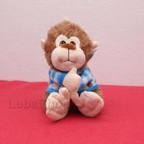 Macaco De Pelúcia Azul Macio E Fofinho