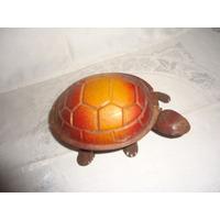 Tartaruga De Lata Antiga - Brinquedo À Corda Para Coleção An