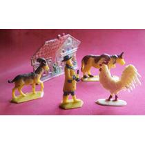 Brinquedos Antigos - Fazendinha Em Plástico Duro 5 P?s