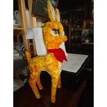 Bambi De Pelúcia Anos 60 - Brinquedo Antigo