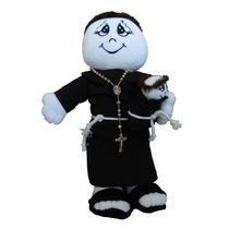 Boneco Santo Antônio Em Tecido Para Buquê Casamento - 35 Cm