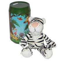 Cofre Safari - Tigre Branco De Pelúcia