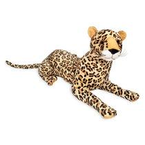 Leopardo Pelucia Pintado Deitado 65cm Zoo Antialergic Unisex