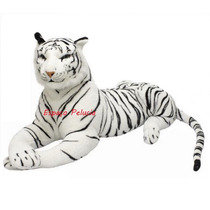 Tigre De Pelucia Real Branco Gigante 90cm / Frete Gratis