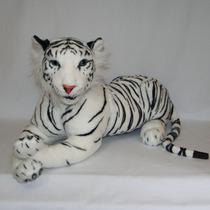 Tigre Branco De Pelúcia Real - Safari - 70cm