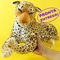 Bicho De Pelúcia Grande * Safari * Onça Pintada Luxo 64cm