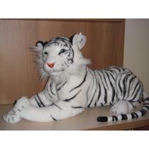 Tigre Pelucia Branco 112cms Total Atoxico C/selo Do Imetro