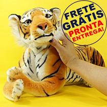 Pelúcia De Tigre Grande Luxo * 63cm * Safari Animal Selvagem
