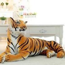 Gigante Tigre Tigresa Pelucia Possui 1 Metro E 65 Cm Comp