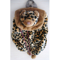 6995 Leopardo Mochila Infantil, Importada, Medindo 40 Cm De