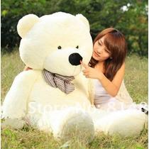 Urso De Pelúcia Grande Branco Com 1 Metro 100cm + Enchimento
