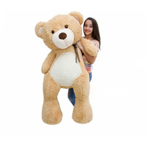 Urso De Pelúcia Gigante Teddy 1 Metro E 50cm Frete Gratis