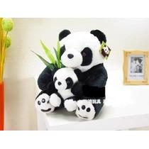 Panda Com Filhote Grande Luxor Reale Urso Pandinha Novo
