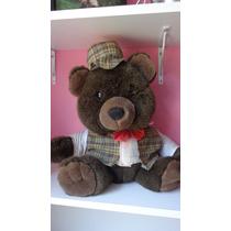 Urso De Pelúcia Marrom Roupinha Ted Vintage Decoração