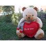 Frete Gratis Gigante Urso Com Cachecol Muito Chique 63cm.