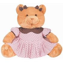 Urso Pelúcia - Ursa Mariana - Urso Gigante + Brinde