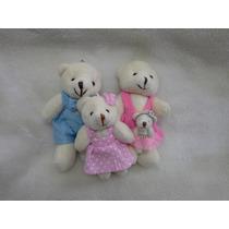 Mini Urso Pelúcia Família