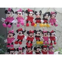 Minnie Ou Mickey 25cm Pelucia Importada