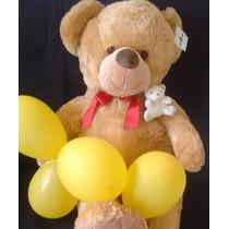 Urso Pelucia Gigante Grande Teddy 1 Metro Altura + Brinde