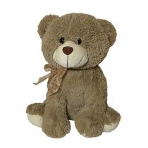 Urso De Pelúcia Sentado Marrom - 34 Cm - Grande