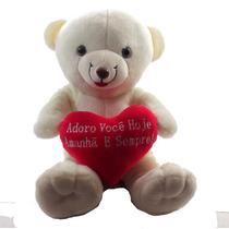 Urso Namorado Coração Frases Médio Pelucia Adoro Você Hoje..