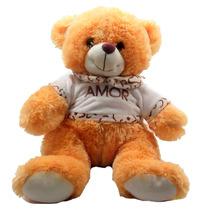 Urso Camiseta Amor Marrom Bicho Pelucia Namorados