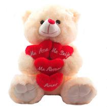 Urso 4 Corações Com Frases Grande Bicho Pelucia Namorados