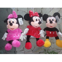 Kit C/ 6 Minnie Ou Mickey 25cm Pelucia Importada Atacado