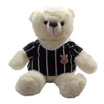 Urso Camiseta Creme Corinthians Timão Bicho Pelucia Namorado