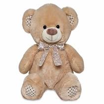 Urso De Pelúcia Grande Bege Luís 40 Cm Buba Toys