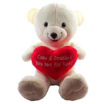Urso Namorado Coração Frases Grande Pelucia