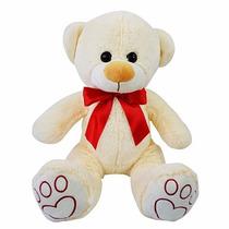 Urso De Pelúcia Com Laço Grande 27cm